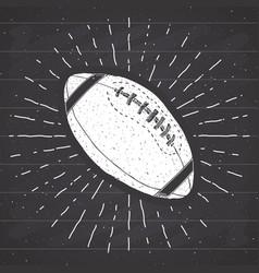 football rugball vintage label hand drawn vector image