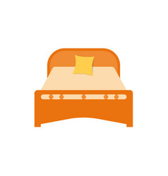 furniture bedroom sleeping on the bed vector image