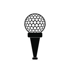 Golf ball on a tee icon vector image