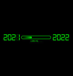 happy new year 2021 with loading to up 2022 vector image