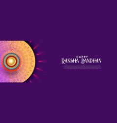 Happy rakshabandhan celebration banner design vector