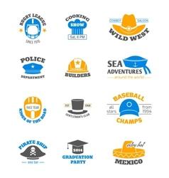 Hat stamp set vector image