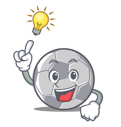 Have an idea football character cartoon style vector