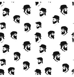 Hipster seamless pattern barbershop vector