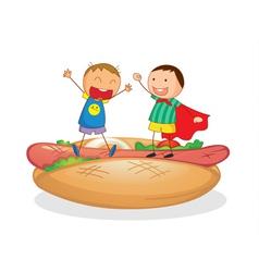 Hotdog kids vector