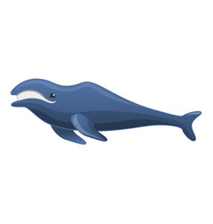 humpback whale icon cartoon style vector image