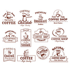 Icons set of coffee cups for coffeeshop vector