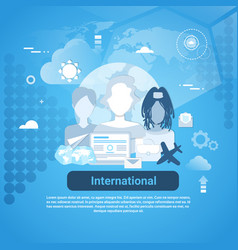 international social media communication web vector image