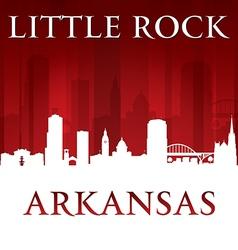 Little Rock Arkansas city skyline silhouette vector image