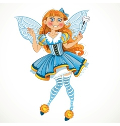 Little tooth fairy with wings vector