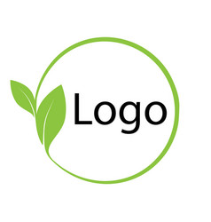 Logo symbol environmental friendly template eco vector