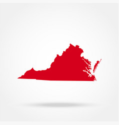 map us state virginia vector image