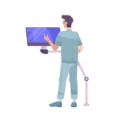 Medical apparatus monitoring composition vector