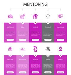 Mentoring infographic 10 option ui design vector
