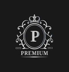 Monogram logo templateluxury letter design vector