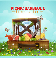 Picnic barbecue vector