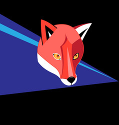 portrait graphics a red fox on a dark vector image