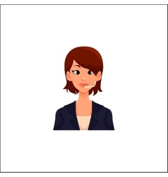 Portrait of young smiling cheerful female call vector image