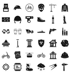 Project icons set simple style vector