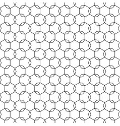 Repeat ornamental background black thin lines vector