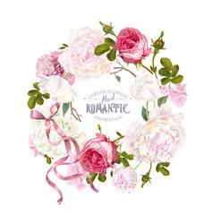 romantic garden wreath vector image