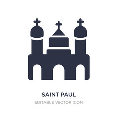 Saint paul icon on white background simple vector