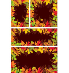 set of seasonal banners of autumnal leaves vector image