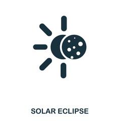 solar eclipse icon flat style icon design ui vector image