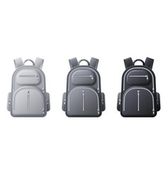 Sport backpack mockup realistic black gray and vector