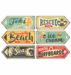 summer signs vintage collection vector image