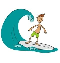 Surfer doodle vector