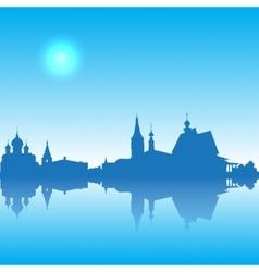 Suzdal silhouette skyline vector image