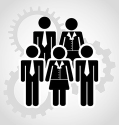 teamwork people vector image