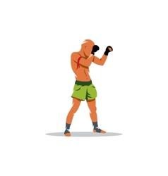 Thai boxing sign vector