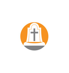 tomb icon template vector image