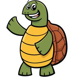 tortoise animal character cartoon vector image