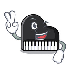 Two finger piano character cartoon style vector