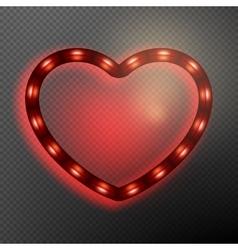 Valentine s Day neon heart EPS 10 vector