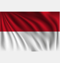 Waving indonesia vector