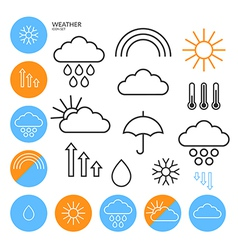 Weather Icon Set Outline vector image