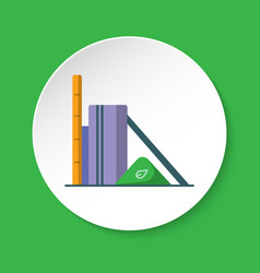 Biomass power station icon in flat style on round vector