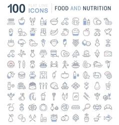 Set Line Icons Food vector image