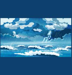 storm at sea vector image