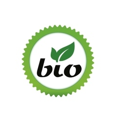 Bio sign round star icon vector image