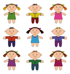 children boys and girls set vector image