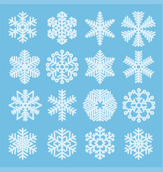 flat design christmas snowflakes vector image