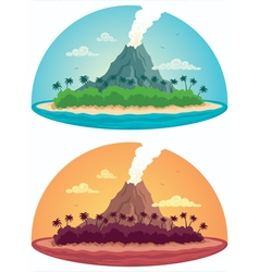 Tropical Island on White vector image