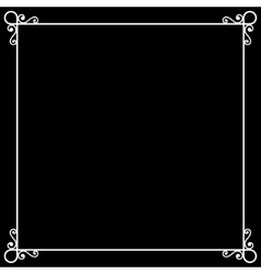 Vintage Frame on Chalkboard Retro Background for vector image