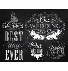 Wedding Set chalk vector image