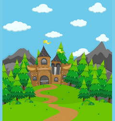 background scene with palace towers vector image vector image